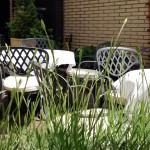 Unsere Terrasse im Hotel Imperial